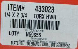 Hilti 433023 KwikCon II PLUS 1/4in x 2-3/4in Torx HexHead Concrete Screws 100 pc image 4