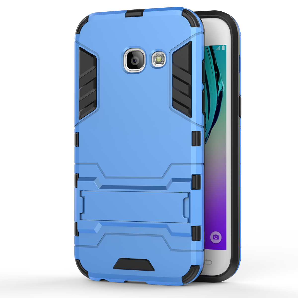 Kickstand Protective Cover Case For Samsung Galaxy J3 (2017) / Emerge  - Blue