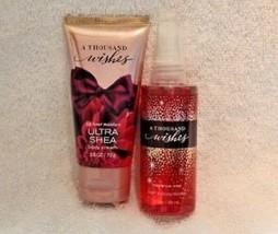 Bath & Body Works A Thousand Wishes Body Cream & Fragrance Mist Set samp... - $7.65