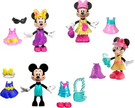 """Fisher-Price - Snap 'n Pose Minnie Mouse 5"""" Fashion Doll - Syles May Vary - $19.30"""