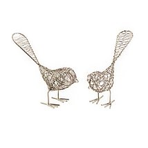 Set of Two Decorative Wire Birds - Mira (Bell) - $14.99