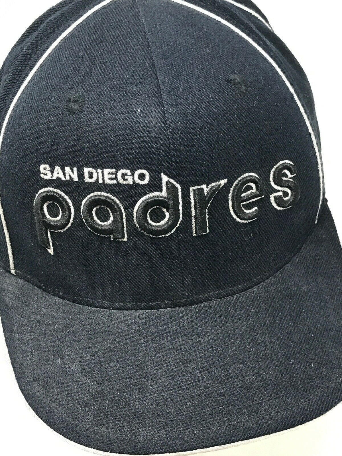 American Needle 1918 San Diego Padres Cooperstown 7 3/4 Fitted Pin Stripe Hat