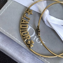 AUTHENTIC Christian Dior LIMITED EDITION J'ADIOR LARGE HOOP EARRINGS GOLD  image 3