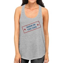 Born In The USA Gray Unique Graphic Tank Top For Women Gift Ideas - $14.99