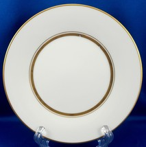 "Noritake Gloria Bread and Butter Cake Plate White with Gold 6.5"" ca 1970... - $10.89"