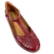 COBB HILL by New Balance 'Angelina' Red Leather T Strap Heels Size 8.5 M **NWOB - $59.39