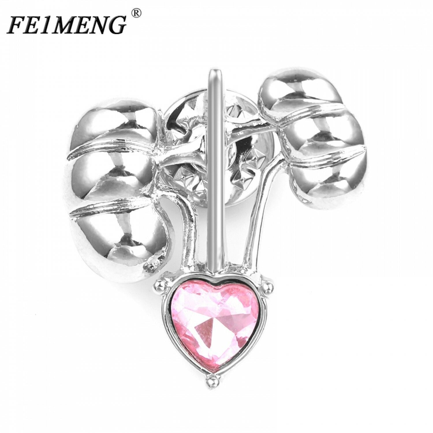 Primary image for Kidney Heart Medical Brooch Pin Pink Crystal Badge Fashion Jewelry For Men Women