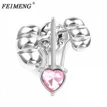 Kidney Heart Medical Brooch Pin Pink Crystal Badge Fashion Jewelry For M... - $6.18