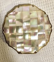 Vintage Stratton Powder Compact Mother Of Pearl Made In England - $45.82