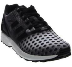 Adidas Zx Flux Größe US 12 M (D) Eu 46 2/3 Herren Laufschuhe Schwarz/Grau BB1328 - $50.59