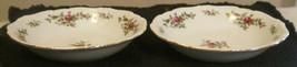 "(2)  TWO Traditions Fine China Johann Haviland Moss Rose 8"" Salad Plates - $19.10"