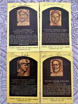 HOF Signed Post Cards - Lou Boudreau, Bill Terry, Buck Leonard, Warren S... - $49.45