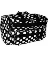 "Black / White Polka Dots 20"" Duffle Bag-NWT - $39.99"