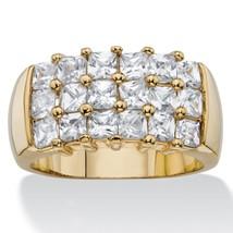 PalmBeach Jewelry 2.34 TCW Princess-Cut Cubic Zirconia 14k Gold-Plated Ring - $13.63