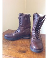 Zigisoho Olivya Boot Shoes Womens Size 5.5 M Brown Leather Combat Boots ... - $26.95