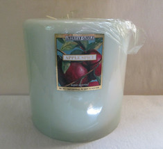 """AMERICAN CANDLE  6"""" X 6"""" SCENTED 3 WICK PILLAR ~SPICE APPLE~ HTF - $25.00"""