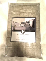 Hotel Collection Standard / Queen Sham Modern Plaid Taupe New in Package... - $22.50