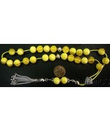 Greek Komboloi Vintage Catalin with Swirling Butterscotch Amber Color RR - $219.78