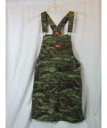 NWOT Dickies Green Camouflage Overall Dress Junior M Above the Knee Org $60 - $42.74