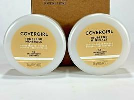L2 Inc Covergirl Trublend Loose Mineral Powder 50 Translucent Tan Lot Of... - $15.83