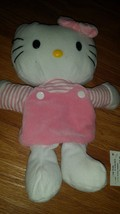 SANRIO HELLO KITTY PLUSH flying colors smiles pink striped puppet hand c... - $16.70