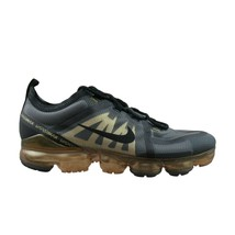 Nike Air VaporMax 2019 Running Shoes Size 9.5 Black Metallic Gold NEW AR... - $133.60
