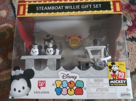 Disney Tsum Tsum Steamboat Willie Gift Set 90 Years Mickey Mouse Box Wal... - $24.04
