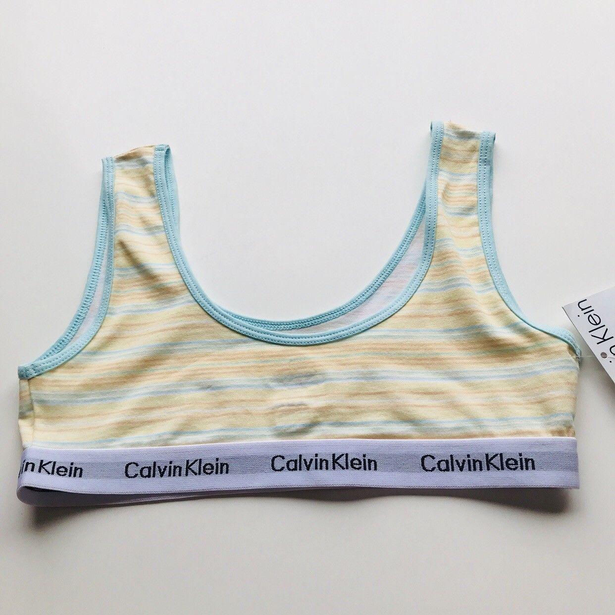 4611ac43bea00c Calvin Klein Girls Bralette 12 14 Yellow and 50 similar items