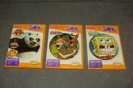 Fisher Price iXL 3 Game Lot - Scooby-Doo + Spongebob + Kung Fu Panda 2 - $9.00