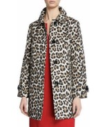 KATE SPADE NWT LEOPARD PRINT TRANSITIONAL TRENCH COAT JACKET SIZE SMALL AND MED - $225.00