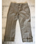 NWOT NYDJ Not Your Daughter's Jeans Tan Wide Cuff Capri Pants Size 6 - $24.97