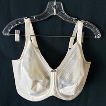 Lilyette Bra Off White 40G 40 G Full Coverage Underwire Lace - $18.99