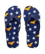Wonder Woman Unisex Flip Flops Blue - $20.98