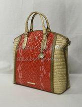 NWT Brahmin Large Duxbury Satchel/Shoulder Bag in Candy Apple Carlisle image 4