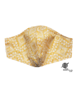 Fleur De Lis Yellow Face Mask Floral Flowers Fitted Adjustable Facemask ... - $8.00