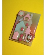 HOUSE PIN by Lucinda - one of a kind - Maine artist - FREE SHIPPING - $20.00