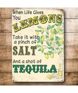 Tequila! When Life Gives You Lemons Drink Bar Pub Large Metal Steel Wall... - $15.47