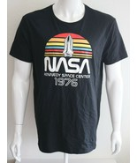 NASA Mens Graphic Tee Black 100% Cotton T-Shirt Size L - $21.68
