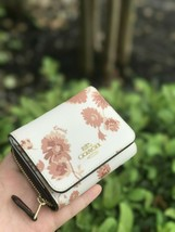Nwt Coach Small Trifold Wallet With Prairie Daisy Cluster Print F78017 - $49.99