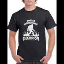 Sasquatch Social Distancing World Champion Bigfoot T-Shirt Funny Quarant... - $21.99+