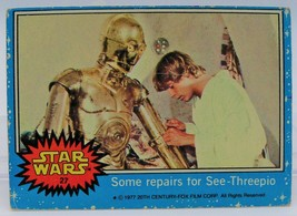 1977 Star Wars Series One Trading Card # 27 Some repairs for See-Threepio - $0.98