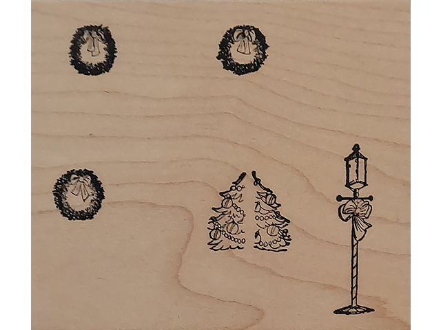 Art Impressions Holiday Wood Mounted Rubber Stamp #M-1614