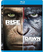 Rise Of The Planet Of The Apes + Dawn Of The Planet Of The Apes  [Blu-ray]  - $5.95