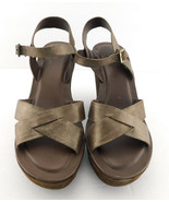 KORK EASE Size 8 AVA Bronze Metallic Wedge Ankle Strap Sandals Shoes 39 - $59.00