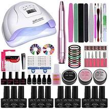 Gel Nail Polish kit with UV Light/UV Led Nail Lamp 72W Dryer,12 pcs colo... - $110.39