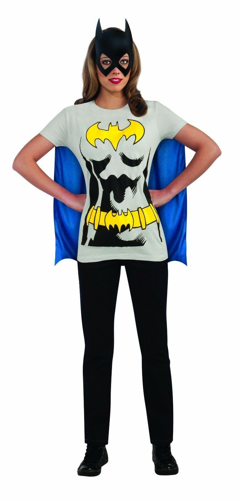 Rubies DC Comics Bat Girl Batman Adult Womens Halloween Costume Shirt 880476