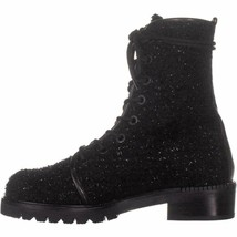 New in Box STUART WEITZMAN Black Metermaid Lace Up Fuzzy Combat Boots 9 ... - $296.99