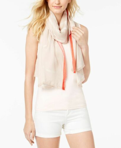 Primary image for Calvin Klein Geometric Border-Stripe Scarf (Cayenne, One Size)