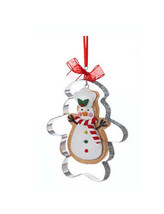 KURT S. ADLER GINGERBREAD SNOWMAN COOKIE CUTTER CHRISTMAS TREE ORNAMENT - $9.88