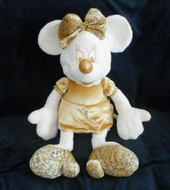 "28"" BIG DISNEY STORE GOLD & CREAM MINNIE MOUSE STUFFED ANIMAL PLUSH TOY ... - $23.38"